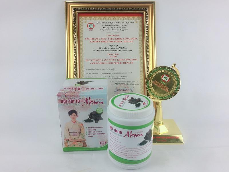 Bột tía tô Akina từ Nhật Bản - giải pháp tối ưu từ thiên nhiên cho người bệnh gút- tăng acid uric huyết